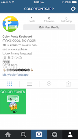 Color Fonts Keyboard
